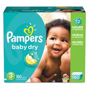 Pampers® Baby Dry® Diapers, Size 3, 160/Carton (10037000862373)