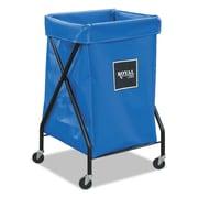 "Royal Basket Trucks X-Frame Cart, 20"" x 22"", Steel; Plastic; Vinyl, Multi-purpose Cart, Blue (R06BBXFA3ON)"