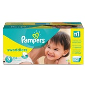 Pampers® Swaddlers Diapers, Size 5, 1/Carton (10037000863752)