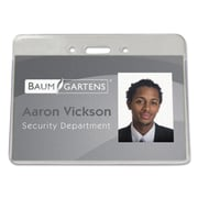 "Baumgartens Sicurix™ Proximity Badge Holder, Clear, 4"" x 3"", Each (BAU47810)"