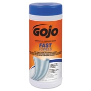 GOJO® FAST TOWELS® Hand Cleaning Towels, 2-Ply, Wet Wipes, White, 25/Roll, 6/Carton (628206)