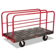 Rubbermaid® Commercial Sheet/Panel Truck, 2,000 lbs. Capaity, Black/Red, Each (4469)