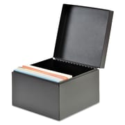 "SteelMaster® Index Card File, 5"" x 8"", 625-Capacity, Black (263855BLA)"