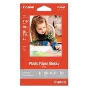 Canon® GP-601 Glossy Photo Paper, Glossy, 4 x 6, White, Each (8649B001)