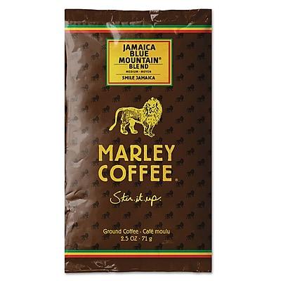 Marley Coffee® Fractional Packs, Jamaica Blue Mountain® Blend, 2.5 oz, 18/Box (495-500-0-1810)