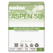Boise ASPEN 50 Multi-Use Recycled Paper, 8 1/2 x 11, White, 5000/Carton (055011)