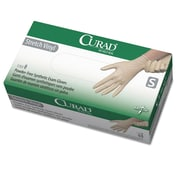Curad® Stretch-Vinyl Exam Gloves, Beige, Small, 150/Box (CUR9224)