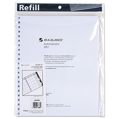2017, AT-A-GLANCE® Three/Five-Year Monthly Planner Refill (7092377)