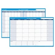 AT-A-GLANCE® 30/60-Day Undated Horizontal Erasable Wall Planner, 48 x 32, White/Blue (PM333-28)