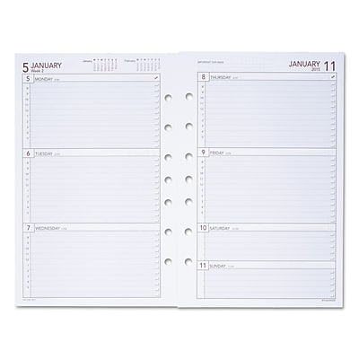 photo relating to Day Runner Binder identified as Working day Runner® Weekly Coming up with Web pages, 5 1/2 x 8 1/2 (061-285Y-09)