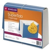 Smead® SuperTab® Expanding File, Blue, Letter, Each (70769)