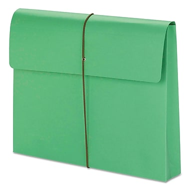 Smead® Expanding Wallet with Elastic Cord, Green, Letter, 10/Pack (77204)