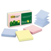 Post-it® Greener Notes Original Recycled Pop-up Notes, 100 Sheets, Helsinki Collection, 6/Pack (R330RP-6AP)