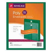Smead Poly String & Button Interoffice Envelopes, Transparent Green, 5/Pack (89543)