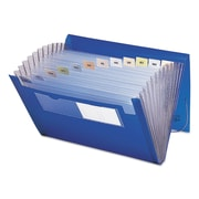Smead® Expanding File with Color Tab Inserts, Blue/Clear, Letter, (70876)