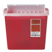 DN PUSH Medline Sharps Container-Patient Room, Red, Each (MDS705152H)