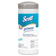 "Scott® Disinfectant Wipes, 7.87"" x 6.89"", Unscented, 12/Carton (41524CT)"