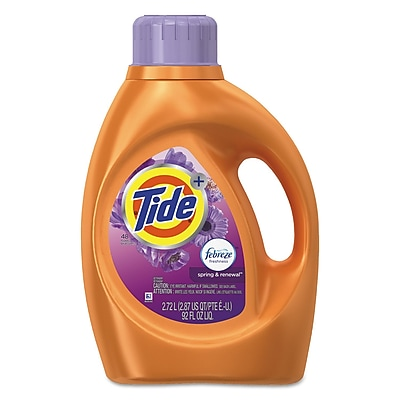 Tide® Plus Febreze® Liquid Laundry Detergent, Spring & Renewal™ Bottle4/Carton (10037000875663)