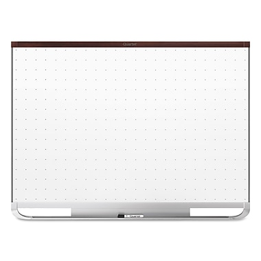 Quartet® Prestige® 2 Total Erase® Magnetic Whiteboard, 3' x 2', Mahogany Finish Frame (TEM543M)
