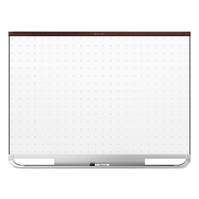 Quartet® Prestige® 2 Total Erase® Magnetic Whiteboard, Mahogany Finish Frame, 3'W x 2'H (TEM543M)