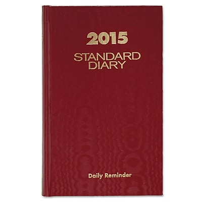 AT-A-GLANCE® Standard Diary® Daily Reminder Book, 4 3/16 x 6 1/2, Red, Each (SD385-13)