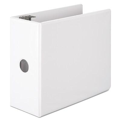 Wilson Jones 386 Basic D-Ring View Binder, White, 950 Sheet Capacity, 5