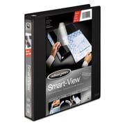 "Wilson Jones® Smart-View® Binder, Customizable, Round Rings, 1"", Black"