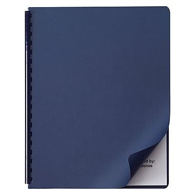 Swingline™ GBC® Linen Textured Standard Presentation Covers for Binding Systems, Navy, 11-1/4 x 8-3/4 (2001513P), 50/Pk