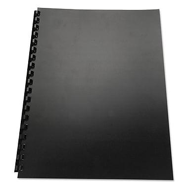 Swingline™ GBC 100% Recycled Poly Binding Cover, Black, 11 x 8 1/2 (25818)