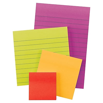 Post-it® Notes Super Sticky Pads in Marrakesh Colors, 45 Sheets, Electric Glow Collection, 4/Pack (4622-SSAN)