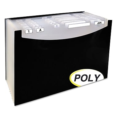 C-Line® 21-Pocket Stand-Up Design Expanding File, Black, Legal, Each (48221)