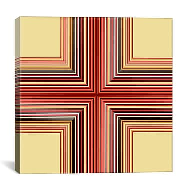 iCanvas Modern Mid Century Cross Graphic Art on Wrapped Canvas; 37'' H x 37'' W x 0.75'' D