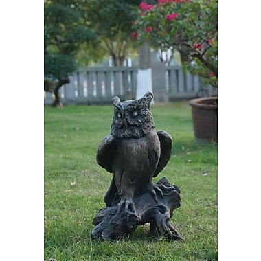 Hi-Line Gift Ltd. Right Side Owl Perched on Tree Trunk Statue