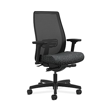 HON® Endorse Mesh Mid-Back Task Chairs, Built-In Lumbar, Synchro-Tilt, Seat Glide, Adjustable Arms, Poppy Fabric