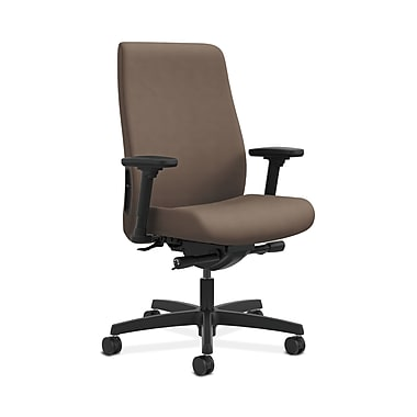 HON® Endorse Mid-Back Task Chairs, Fabric Outer Back, Built-In Lumbar, Adjustable Arms, Antelope Fabric