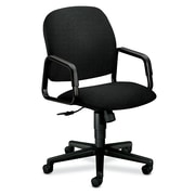 HON Solutions Seating High-Back Chairs, Center-Tilt, Fixed Arms, Olefin Fabric