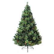 Jolly Workshop 8' Green Charlotte Pine Artificial Tree w/ 750 Clear Lights and Metal Stand