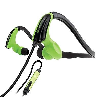GOgroove AudiOHM CFT Behind-The-Head Headphones, Green