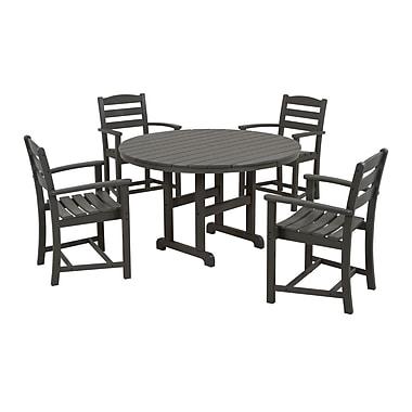 POLYWOOD La Casa Cafe 5 Piece Dining Set; Slate Grey