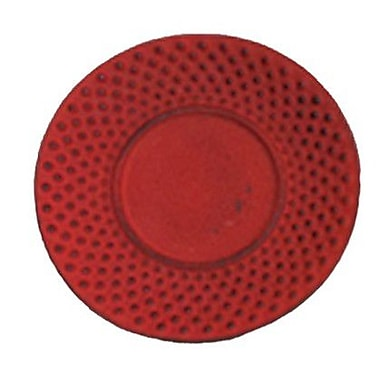 Creative Home Cast Iron Round Trivet; Red