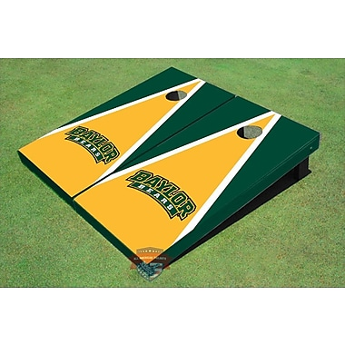 All American Tailgate NCAA Matching Triangle Cornhole Board (Set of 2); Baylor University Arch 1