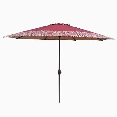 LB International 9' Market Umbrella; Burgundy