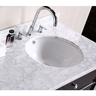 American Imaginations American Imaginations Ceramic Circular Undermount Bathroom Sink w/ Overflow