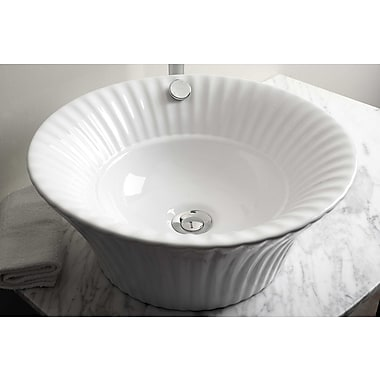 American Imaginations Above Counter Round Vessel Bathroom Sink; Antique Brass