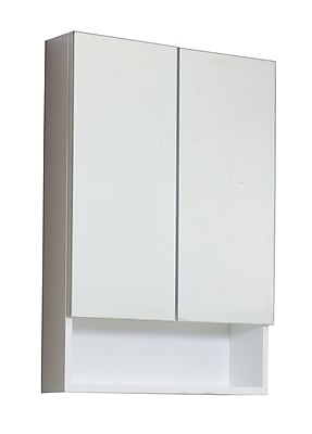 American Imaginations 24'' x 32'' Surface Mount Medicine Cabinet; Stainless Steel