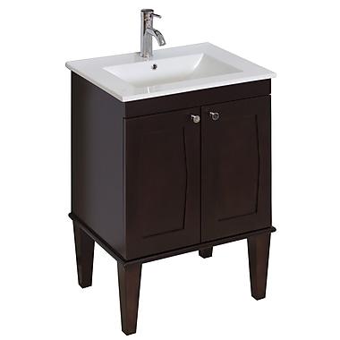 American Imaginations Transitional 23'' Single Bathroom Vanity Base; Aluminum