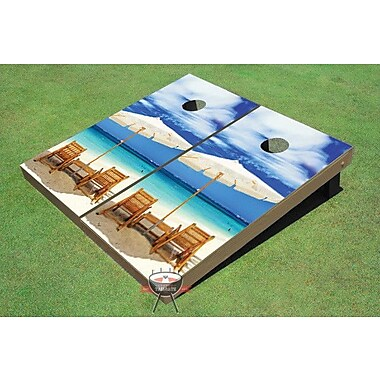 All American Tailgate Wonderful Beach Cornhole Board (Set of 2)