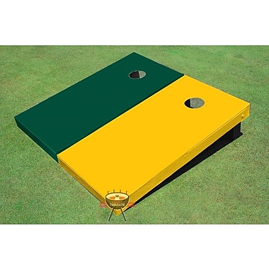 All American Tailgate Solid Cornhole Board (Set of 2); Yellow and Green