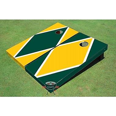 All American Tailgate Alternating Diamond Cornhole Board (Set of 2); Yellow and Green