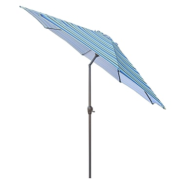 LB International 9' Market Umbrella; Blue